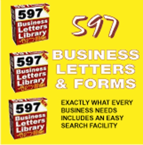 597 BUSINESS LETTERS - business documents,forms & templates