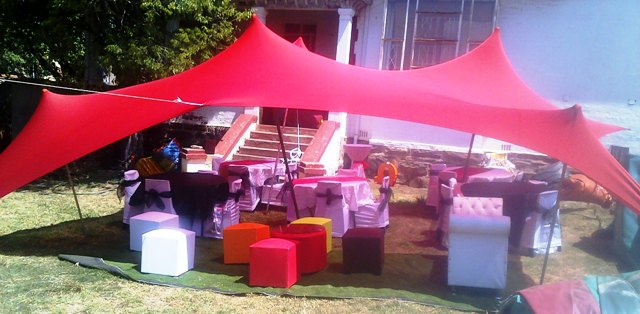 Stretch Tents for Hire from R800 TEL 0116242127